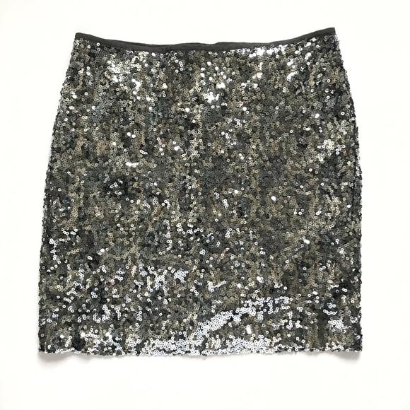 4a9814eb354f White House Black Market Skirts | Silver Sequin Skirt | Poshmark